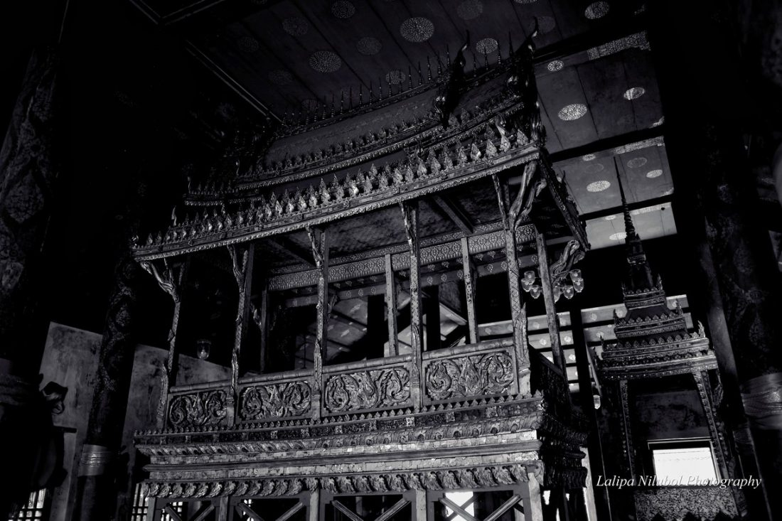 "The ""sanket"" monk's seat of Wat Cheung Ta (Ayutthaya)."